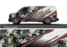 Het ontwerpvector van het autooverdrukplaatje abstracte achtergrond voor voertuig vinylomslag stock illustratie
