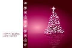 Het ontwerpvector van de kerstkaart Stock Afbeelding