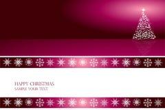 Het ontwerpvector van de kerstkaart Stock Fotografie