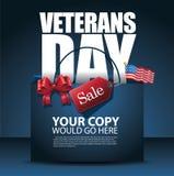 Het ontwerpverkoop van de veteranendag het winkelen zakachtergrond Stock Fotografie