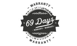 het ontwerpzegel van de 69 dagengarantie vector illustratie