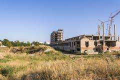 Het ontwikkelen zich van moderne burgerlijke bouwkunde Bouwnijverheid Stock Foto