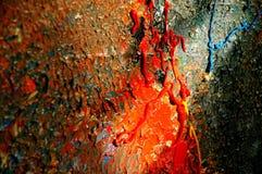 Het onvolledige schilderen stock foto