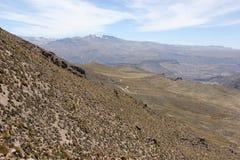 Het onvruchtbare landschap van Altiplano stock foto
