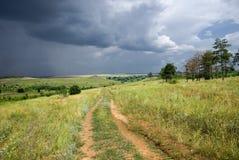Het onweer in de steppe Royalty-vrije Stock Fotografie