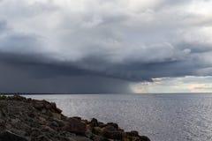 Het onweer komt stock afbeelding