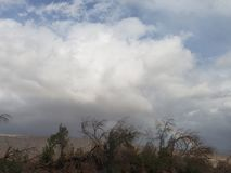 Het onweer komt stock foto