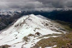 Het onweer komt (in de Alpen) Stock Afbeeldingen