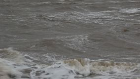Het onweer op het overzees van Azov stock video