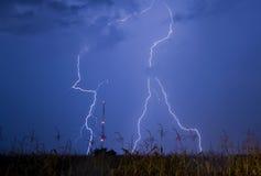 Het onweer van de bliksem Stock Foto