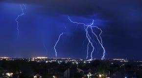 Het Onweer van de bliksem Royalty-vrije Stock Afbeeldingen