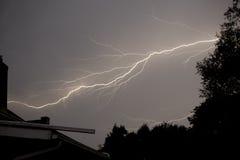 Het Onweer van de bliksem Stock Foto's