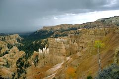 Bryce Canyon Storm Stock Foto's