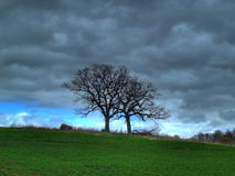 Het Onweer van de lente stock afbeelding
