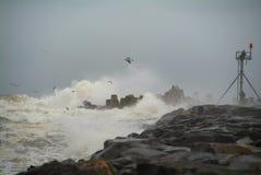 Het Onweer van de pier Royalty-vrije Stock Fotografie