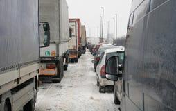 Het onweer van de sneeuw in Servië Royalty-vrije Stock Foto's