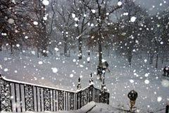 Het Onweer van de Sneeuw van Boston Royalty-vrije Stock Fotografie