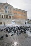Het Onweer van de Sneeuw van Griekenland - van Athene stock afbeeldingen