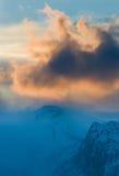 Het onweer van de winter Stock Foto's