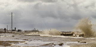 Het onweer van de winter Stock Foto
