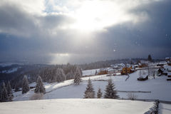 Het onweer van de winter Stock Afbeelding