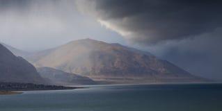 Het Onweer van het Meer van de leurder Royalty-vrije Stock Foto's