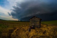 Het onweer van het pomphuis Royalty-vrije Stock Foto