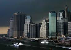 Het onweer van Manhattan Royalty-vrije Stock Afbeeldingen