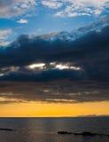 Het onweer van Ocracoke Stock Foto's