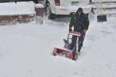 Het Onweer van sneeuw Juno Royalty-vrije Stock Foto