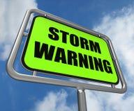 Het onweerswaarschuwingsbord vertegenwoordigt het Voorspellen vector illustratie