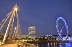 Het Oog en de brug van Londen Royalty-vrije Stock Afbeelding
