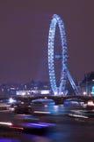 Het Oog en Theems van Londen bij Nieuwjaar Stock Fotografie