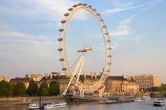 Het oog Ferris Wheel van Londen Royalty-vrije Stock Fotografie