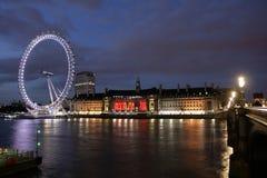 Het Oog Nightview van Londen Stock Foto's