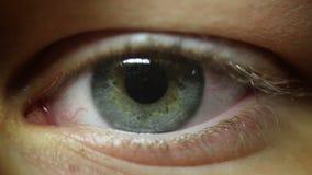 het oog trilt zenuwachtig stock video