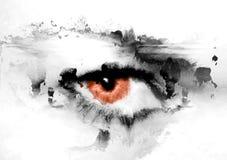 Het oog van Crisom Royalty-vrije Stock Afbeeldingen