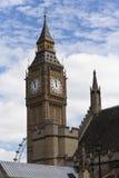 Het oog van de Big Ben en van Londen royalty-vrije stock foto's