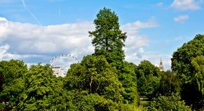Het Oog van de Big Ben en van Londen stock foto