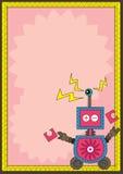 Het Oog van de robot ontdekt Frame Card_eps Royalty-vrije Stock Fotografie