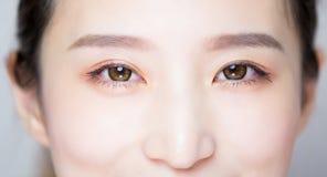 Het oog van de schoonheidsvrouw stock foto's