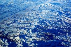 Het Oog van de vogel de Bergen van de Sneeuw Royalty-vrije Stock Foto's