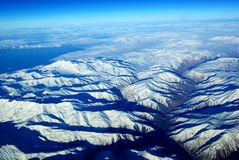 Het Oog van de vogel de Bergen van de Sneeuw Stock Afbeelding
