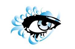 Het oog van de vrouw stock illustratie
