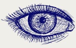 Het oog van de vrouw Royalty-vrije Stock Afbeeldingen