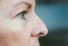 Het oog van de vrouw royalty-vrije stock foto's