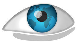Het oog van de wereld Royalty-vrije Stock Foto