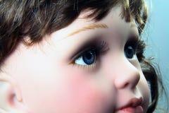 Het oog van Doll stock foto's