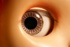 Het oog van Doll Royalty-vrije Stock Afbeeldingen