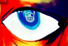 Het oog van Graffiti Stock Fotografie